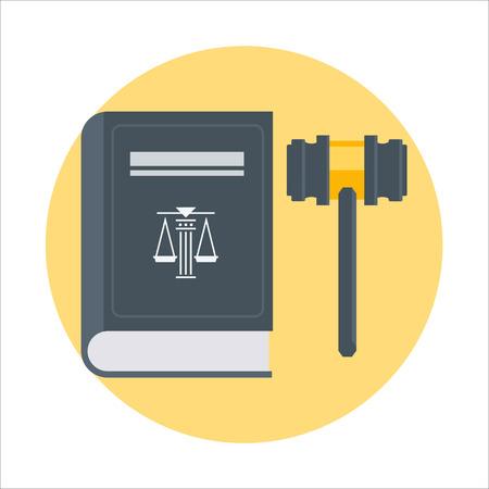 Wet thema, vlakke stijl, kleurrijk, vector pictogram voor info graphics, websites, mobiele en print media. Stock Illustratie