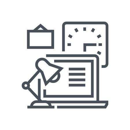 flexible business: Office icon suitable for info graphics, websites and print media and  interfaces. Line vector icon. Illustration