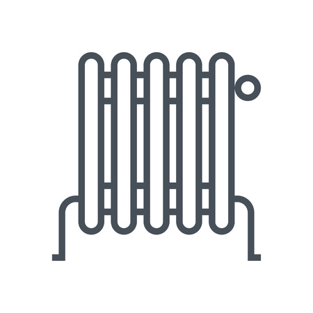 Heater icon suitable for info graphics, websites and print media and  interfaces. Line vector icon. 矢量图像