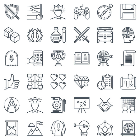 mana: Game design icon set suitable for info graphics, websites and print media and  interfaces. Line vector icon set. Illustration