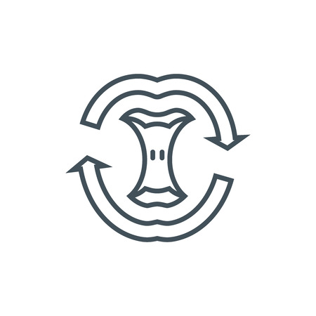 Compost icon suitable for info graphics, websites and print media and interfaces. Line vector icon. Vektorové ilustrace