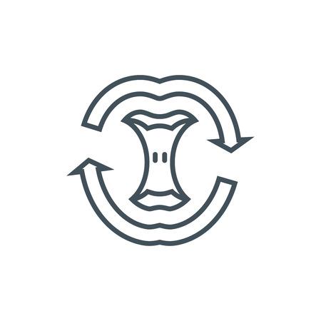 Compost Symbol für Info-Grafiken, Webseiten und Printmedien und Schnittstellen. Line-Vektor-Symbol. Vektorgrafik