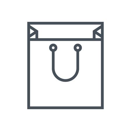Shopping bag icona adatta per informazioni grafiche, siti web e supporti di stampa. Colorful vettore, icona piatta, clip art. Archivio Fotografico - 55924716