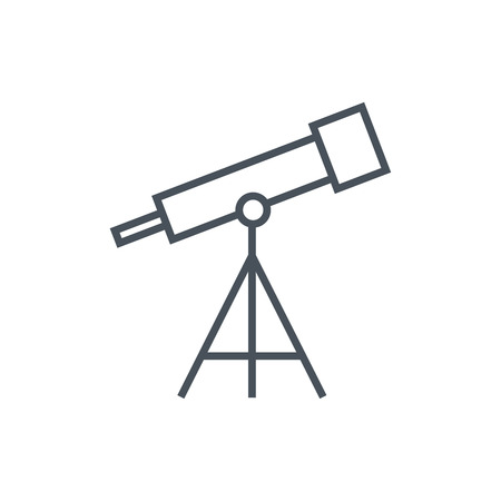 planetarium: Telescope icon suitable for info graphics, websites and print media and  interfaces. Line vector icon.