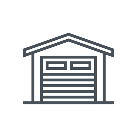 storage: Garage icon suitable for info graphics, websites and print media and  interfaces. Line vector icon.