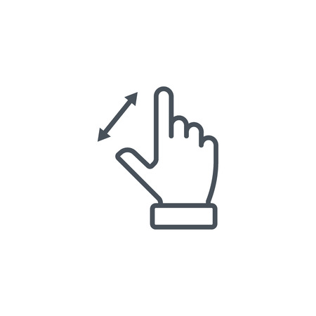 rejection: Multi touch, hand, finger, gesture icon suitable for info graphics, websites and print media and  interfaces. Line vector icon.