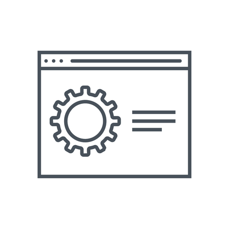 print media: Settings icon suitable for info graphics, websites and print media and  interfaces. Line vector icon. Illustration
