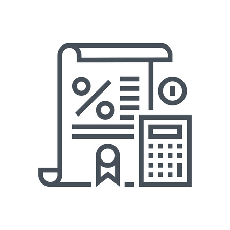 tax law: Tax law icon suitable for info graphics, websites and print media and  interfaces. Line vector icon. Human face, head, line vector icon.