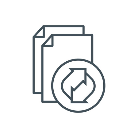 recycling: Recycling cardboard paper icon suitable for info graphics, websites and print media and  interfaces. Line vector icon.