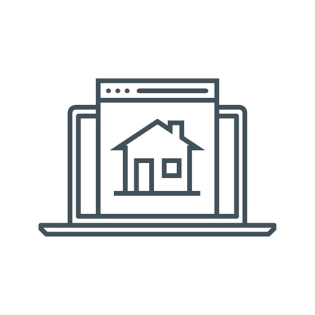 Home page icon suitable for info graphics, websites and print media and  interfaces. Line vector icon.
