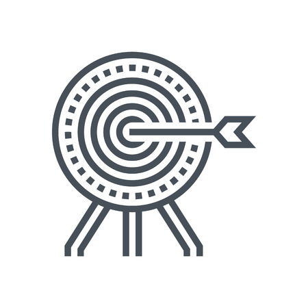 responsive: Target icon suitable for info graphics, websites and print media and  interfaces. Line vector icon.