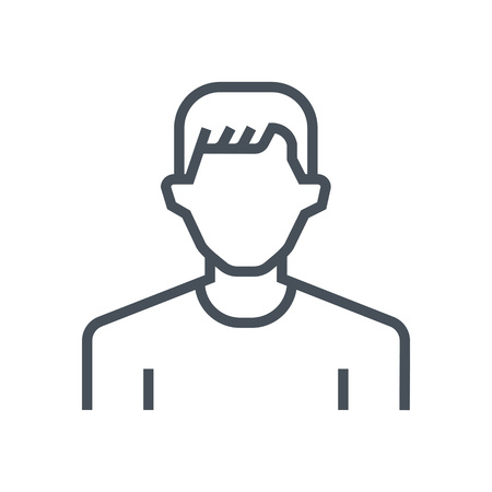 bald woman: Employee, office person avatar icon suitable for info graphics, websites and print media and  interfaces. Line vector icon. Illustration