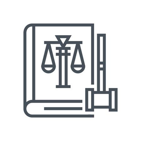Law book icon geschikt voor info graphics, websites en gedrukte media en interfaces. Line vector icon. Menselijk gezicht, hoofd, lijn vector icon.