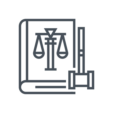 Law book icon suitable for info graphics, websites and print media and  interfaces. Line vector icon. Human face, head, line vector icon.