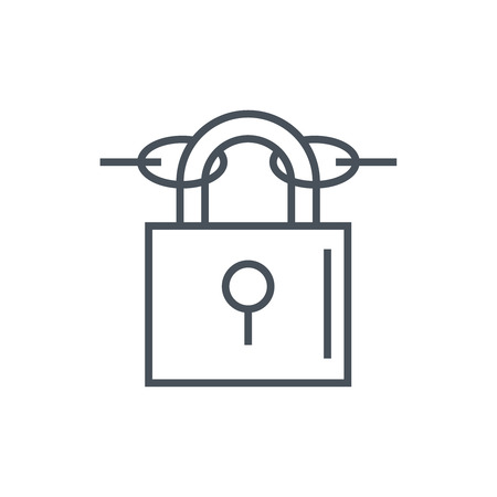cyber defence: Security icon suitable for info graphics, websites and print media and  interfaces. Line vector icon.