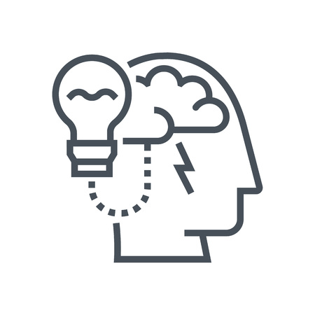 brain power: Brain power icon suitable for info graphics, websites and print media and  interfaces. Line vector icon.