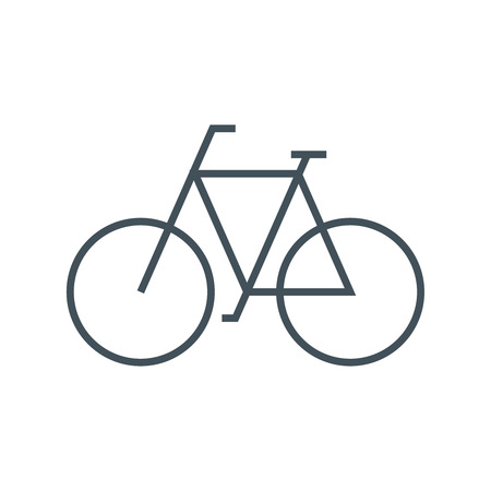 Sustainable transport, bike icon suitable for info graphics, websites and print media and  interfaces. Line vector icon.