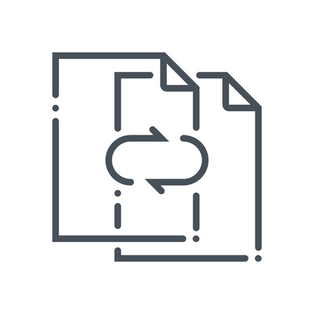 responsive: Data exchange, transfer icon suitable for info graphics, websites and print media and  interfaces. Hand drawn style, pixel perfect line vector icon. Illustration