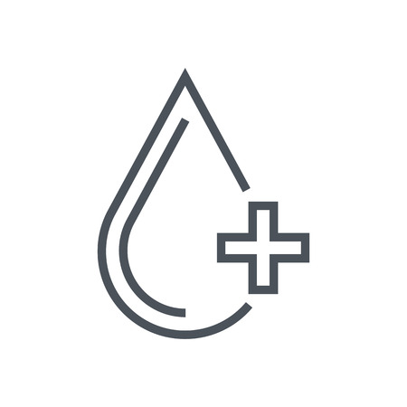 Blood donation icon suitable for info graphics, websites and print media and  interfaces. Line vector icon.