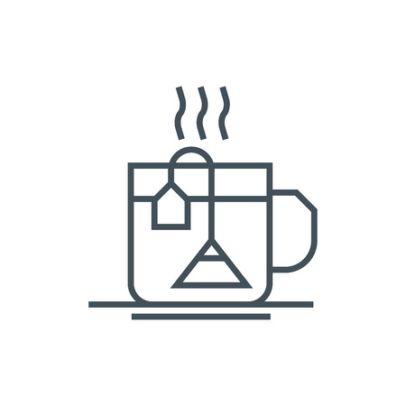 hot drinks: Hot drinks, tea icon suitable for info graphics, websites and print media. Vector icon. Illustration