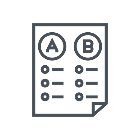 cons: Split test icon suitable for info graphics, websites and print media and  interfaces. Line vector icon.