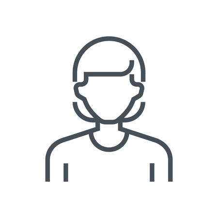 responsive: Employee, office person avatar icon suitable for info graphics, websites and print media and  interfaces. Line vector icon. Illustration