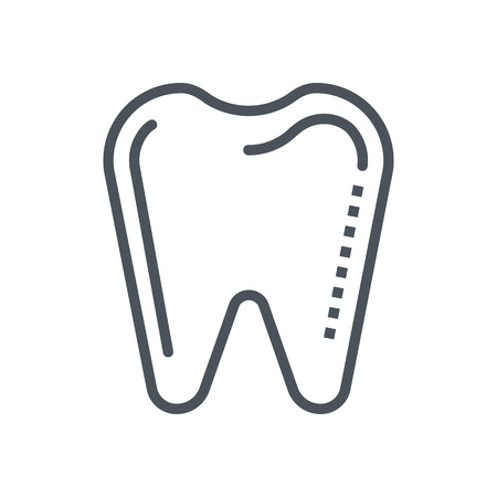 Dentist, tooth icon suitable for info graphics, websites and print media and  interfaces. Line vector icon. Illustration