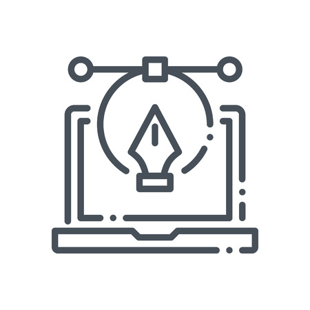 Digital graphics icon suitable for info graphics, websites and print media and  interfaces. Hand drawn style, pixel perfect line vector icon.