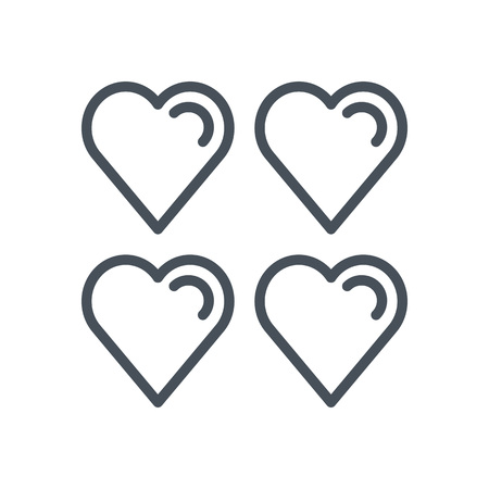Hearts, life icon suitable for info graphics, websites and print media and  interfaces. Line vector icon.