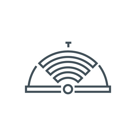 wireless hot spot: internet, restaurant icon suitable for info graphics, websites and print media. Vector icon.