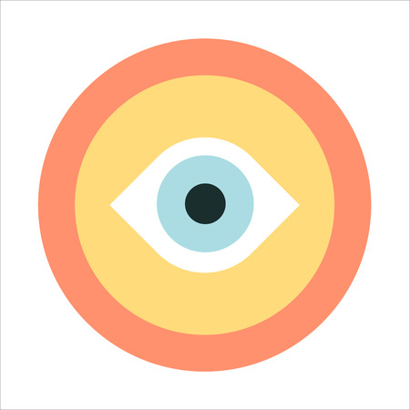 minimal: Vision, flat style, colorful, vector icon for info graphics, websites, mobile and print media. Illustration