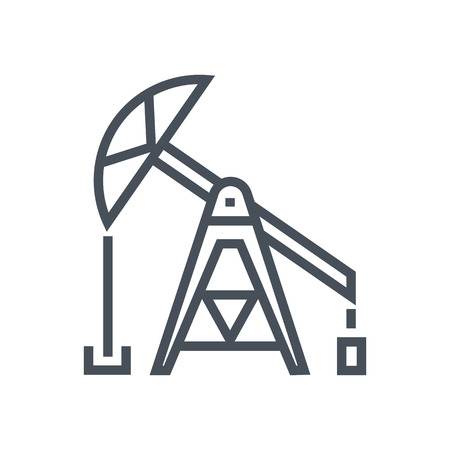 Oil pump icon suitable for info graphics, websites and print media and  interfaces. Line vector icon.
