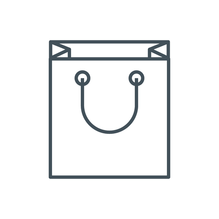 Shopping bag icon suitable for info graphics, websites and print media. Colorful vector, flat icon, clip art. Illustration