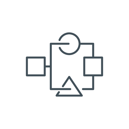 Organization, data sheet icon suitable for info graphics, websites and print media. Vector icon. Illustration