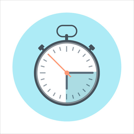 digital printing: Time management flat style, colorful, vector icon for info graphics, websites, mobile and print media.