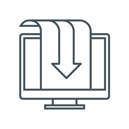 Download  icon suitable for info graphics, websites and print media and  interfaces. Line vector icon.