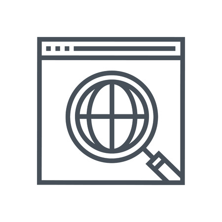 evidences: Research icon suitable for info graphics, websites and print media and  interfaces. Line vector icon. Illustration
