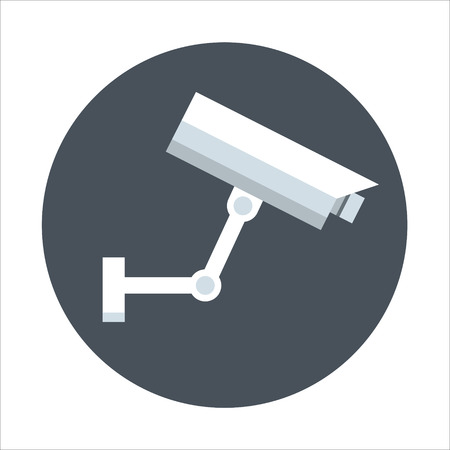 Surveillance camera theme, flat style, colorful, vector icon for info graphics, websites, mobile and print media.