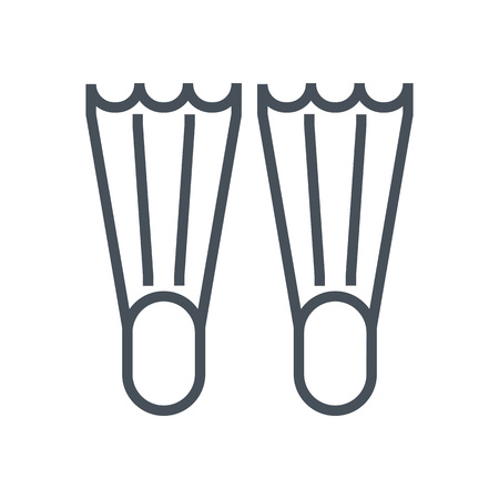 flippers: Dive flippers icon suitable for info graphics, websites and print media and  interfaces. Line vector icon.
