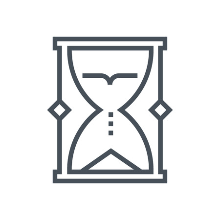 flexible business: Sand timer icon suitable for info graphics, websites and print media. Vector icon. Illustration