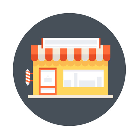 Web shopping flat style colorful, vector icon for info graphics, websites, mobile and print media.