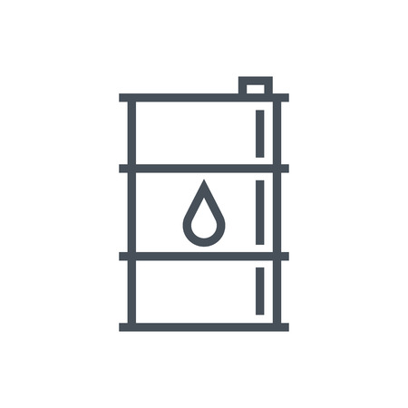 Oil barrel icon geschikt voor info graphics, websites en gedrukte media en interfaces. Lijn vector pictogram.