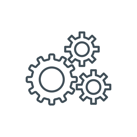 Content management, gears icon suitable for info graphics, websites and print media and  interfaces. Line vector icon.