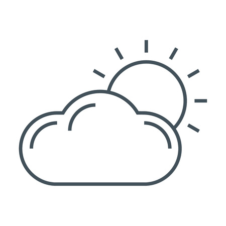 wheater: Weather casting icon suitable for info graphics, websites and print media and  interfaces. Line vector icon.