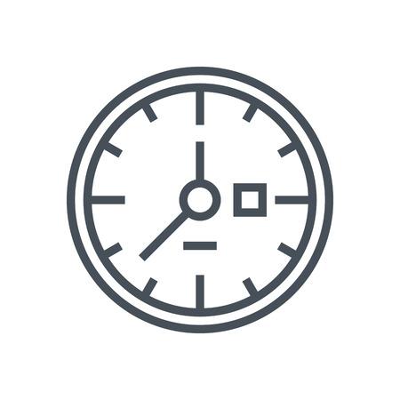 時計、時間アイコン情報グラフィックス、web サイトや印刷媒体とインタ フェースに適しています。行ベクトルのアイコン。