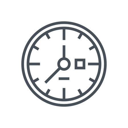 flexible business: Clock, work hours icon suitable for info graphics, websites and print media and  interfaces. Line vector icon.