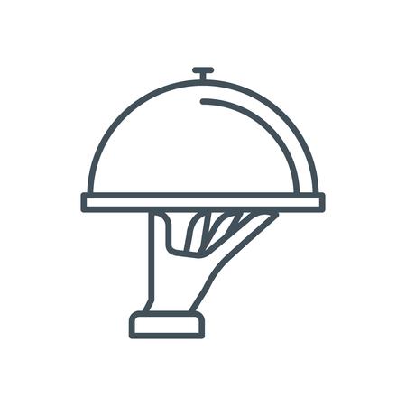 Restaurantpictogram geschikt voor infografieken, websites en gedrukte media. Vector pictogram.