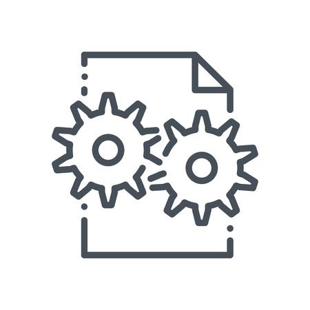 icona di gestione dei contenuti adatti per informazioni grafiche, siti web e supporti di stampa e interfacce. Stile disegnato a mano, pixel icona perfetta linea vettoriale.