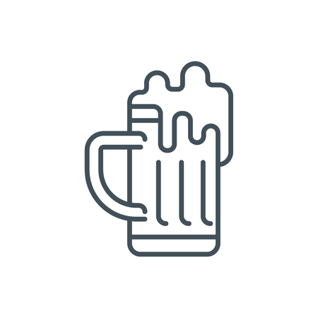 draught: Beer icon suitable for info graphics, websites and print media. Vector icon.