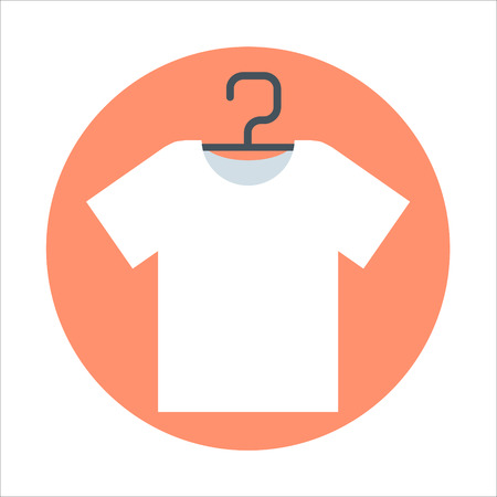 print media: T-shirt, flat style, colorful, vector icon for info graphics, websites, mobile and print media.
